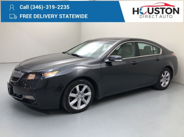 Used 2013 Acura TL for sale in Houston TX.  We Finance!