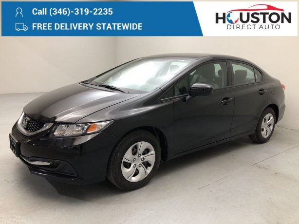 Used 2014 Honda Civic for sale in Houston TX.  We Finance!