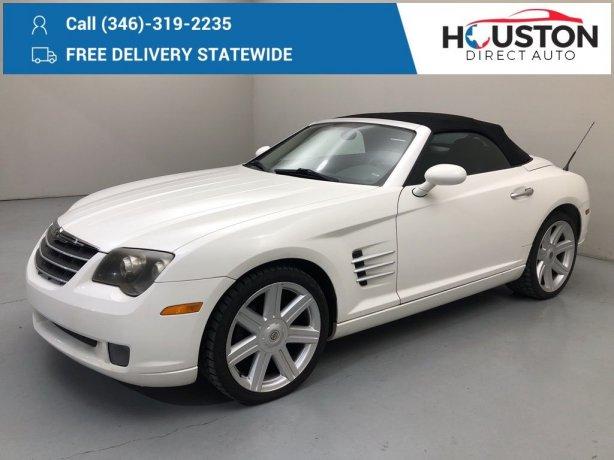 Used 2005 Chrysler Crossfire for sale in Houston TX.  We Finance!