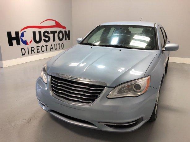 Used 2013 Chrysler 200 for sale in Houston TX.  We Finance!