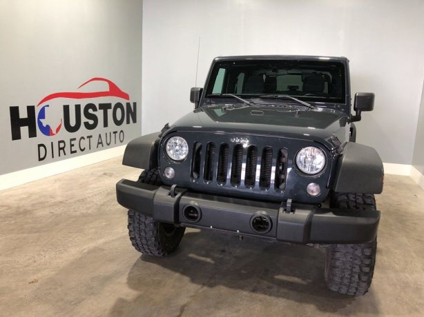 Used 2016 Jeep Wrangler for sale in Houston TX.  We Finance!