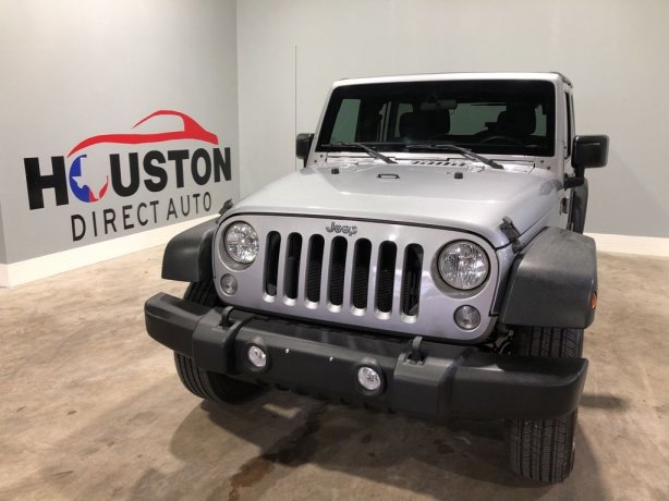 Used 2015 Jeep Wrangler for sale in Houston TX.  We Finance!