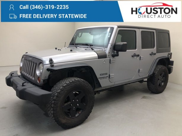 Used 2013 Jeep Wrangler for sale in Houston TX.  We Finance!