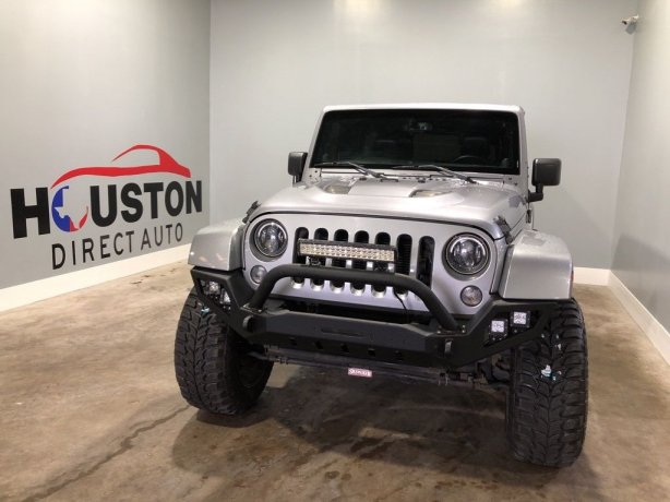 Used 2014 Jeep Wrangler for sale in Houston TX.  We Finance!