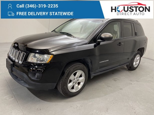 Used 2015 Jeep Compass for sale in Houston TX.  We Finance!