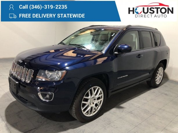 Used 2014 Jeep Compass for sale in Houston TX.  We Finance!