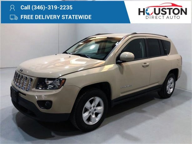 Used 2017 Jeep Compass for sale in Houston TX.  We Finance!
