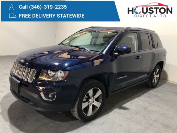 Used 2016 Jeep Compass for sale in Houston TX.  We Finance!