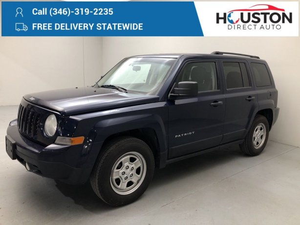 Used 2012 Jeep Patriot for sale in Houston TX.  We Finance!
