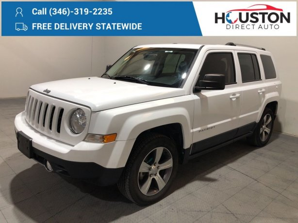 Used 2017 Jeep Patriot for sale in Houston TX.  We Finance!