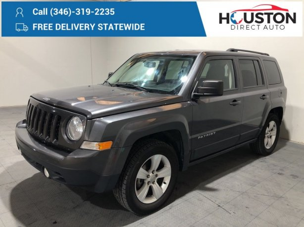 Used 2014 Jeep Patriot for sale in Houston TX.  We Finance!