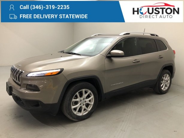 Used 2017 Jeep Cherokee for sale in Houston TX.  We Finance!