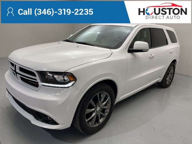 Used 2017 Dodge Durango for sale in Houston TX.  We Finance!
