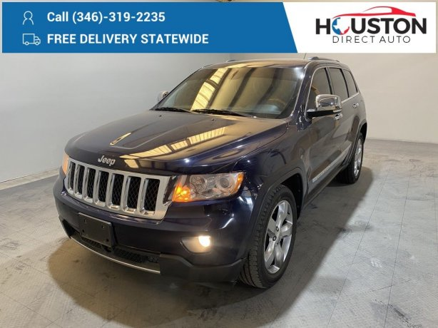 Used 2013 Jeep Grand Cherokee for sale in Houston TX.  We Finance!