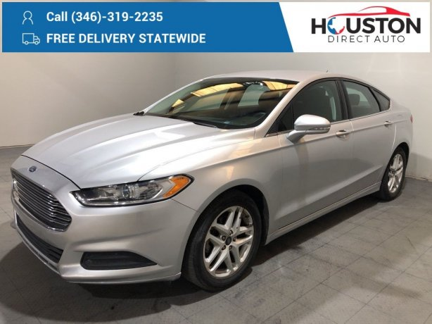 Used 2015 Ford Fusion for sale in Houston TX.  We Finance!
