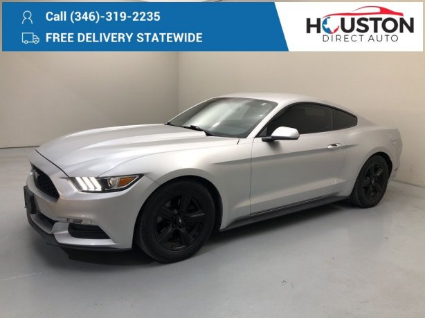 Used 2015 Ford Mustang for sale in Houston TX.  We Finance!