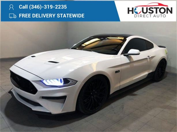 Used 2018 Ford Mustang for sale in Houston TX.  We Finance!