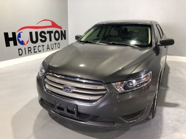 Used 2017 Ford Taurus for sale in Houston TX.  We Finance!