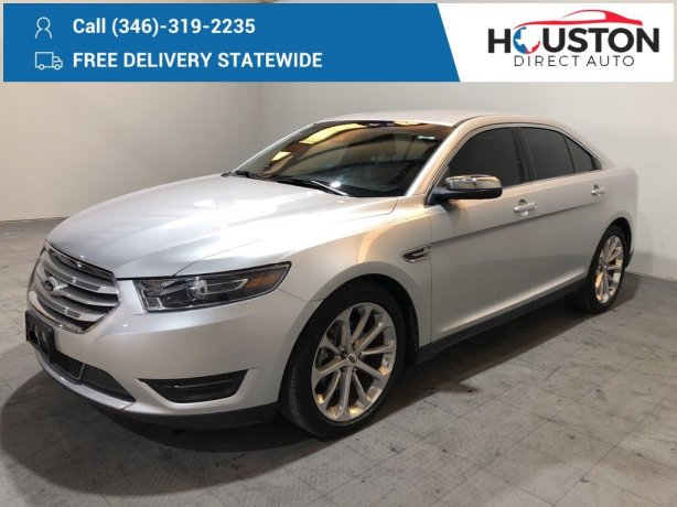 Used 2016 Ford Taurus for sale in Houston TX.  We Finance!