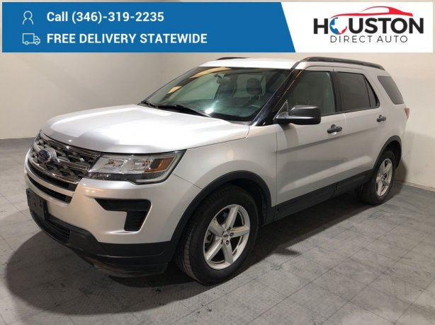 Used 2018 Ford Explorer for sale in Houston TX.  We Finance!
