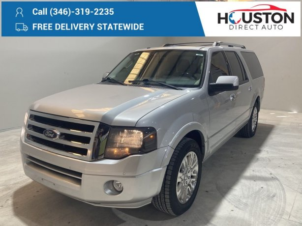 Used 2014 Ford Expedition EL for sale in Houston TX.  We Finance!