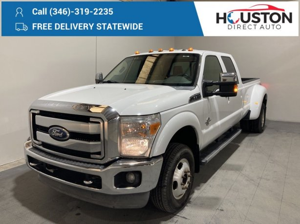 Used 2012 Ford F-350SD for sale in Houston TX.  We Finance!