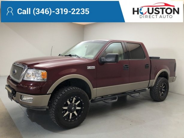 Used 2004 Ford F-150 for sale in Houston TX.  We Finance!