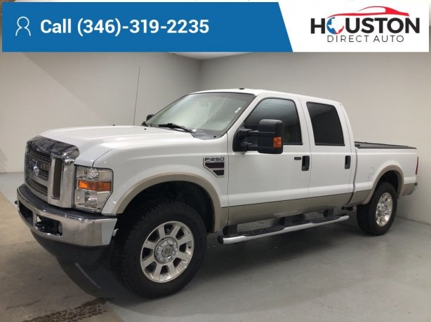 Used 2008 Ford F-250SD for sale in Houston TX.  We Finance!