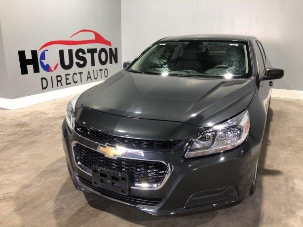 Used 2015 Chevrolet Malibu for sale in Houston TX.  We Finance!