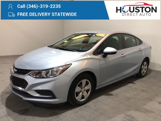 Used 2017 Chevrolet Cruze for sale in Houston TX.  We Finance!