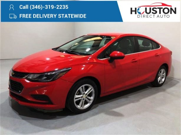 Used 2016 Chevrolet Cruze for sale in Houston TX.  We Finance!