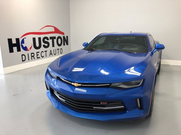 Used 2016 Chevrolet Camaro for sale in Houston TX.  We Finance!