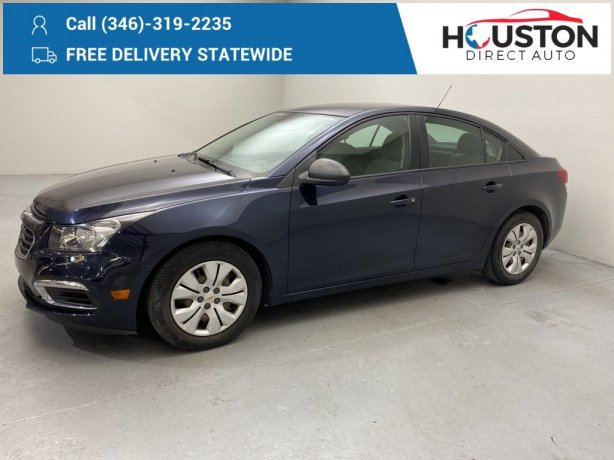 Used 2015 Chevrolet Cruze for sale in Houston TX.  We Finance!