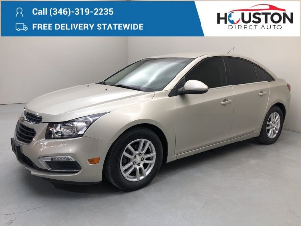 Used 2016 Chevrolet Cruze Limited for sale in Houston TX.  We Finance!