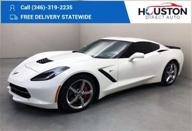 Used 2014 Chevrolet Corvette Stingray for sale in Houston TX.  We Finance!