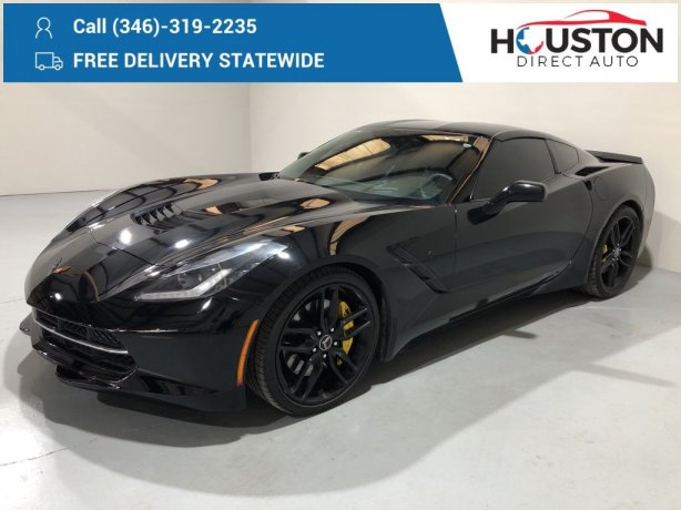 Used 2014 Chevrolet Corvette Stingray for sale in Houston TX.  We Finance!