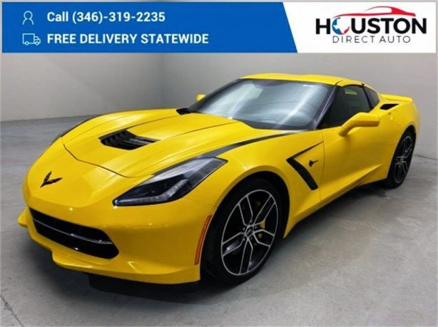 Used 2015 Chevrolet Corvette for sale in Houston TX.  We Finance!