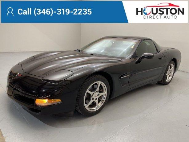 Used 2002 Chevrolet Corvette for sale in Houston TX.  We Finance!