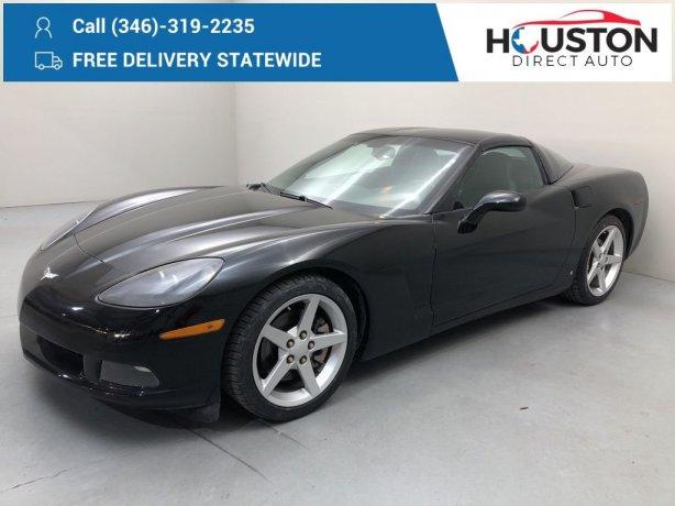 Used 2007 Chevrolet Corvette for sale in Houston TX.  We Finance!