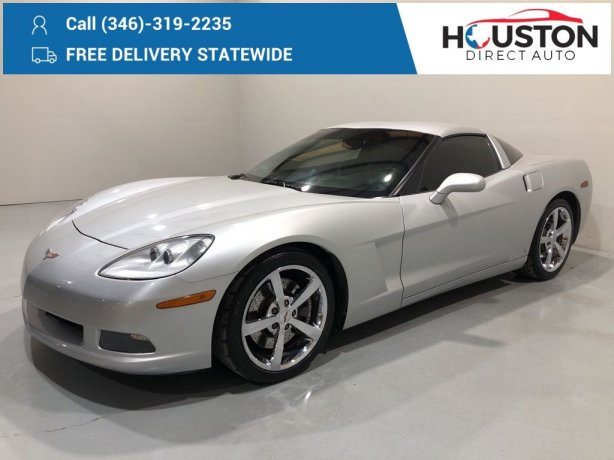 Used 2009 Chevrolet Corvette for sale in Houston TX.  We Finance!