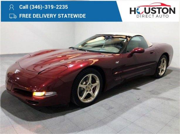 Used 2003 Chevrolet Corvette for sale in Houston TX.  We Finance!