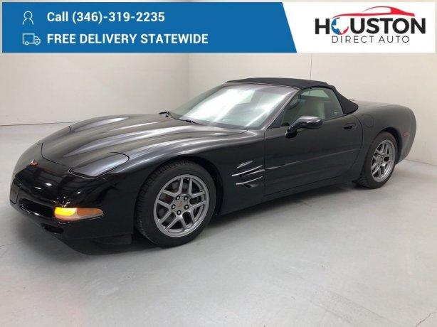 Used 2004 Chevrolet Corvette for sale in Houston TX.  We Finance!