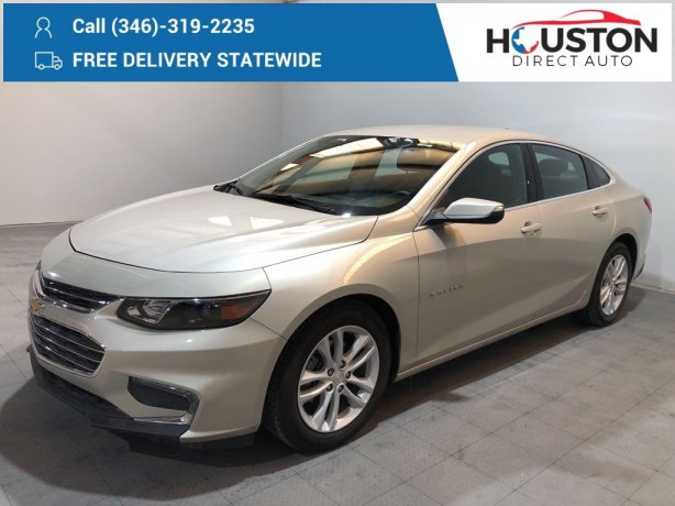 Used 2016 Chevrolet Malibu for sale in Houston TX.  We Finance!