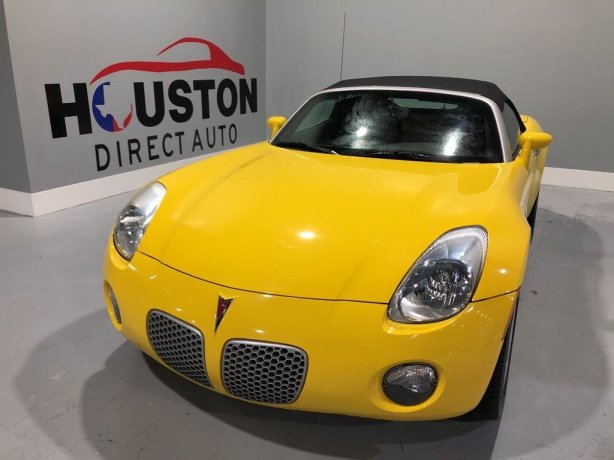 Used 2008 Pontiac Solstice for sale in Houston TX.  We Finance!