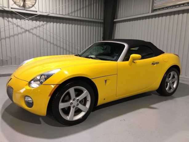 Used Pontiac Solstice for sale in Houston TX.  We Finance!