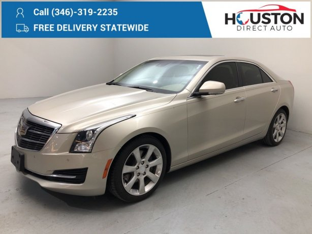 Used 2015 Cadillac ATS for sale in Houston TX.  We Finance!