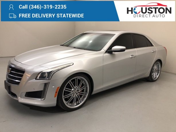 Used 2015 Cadillac CTS for sale in Houston TX.  We Finance!