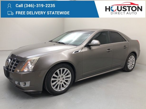 Used 2012 Cadillac CTS for sale in Houston TX.  We Finance!