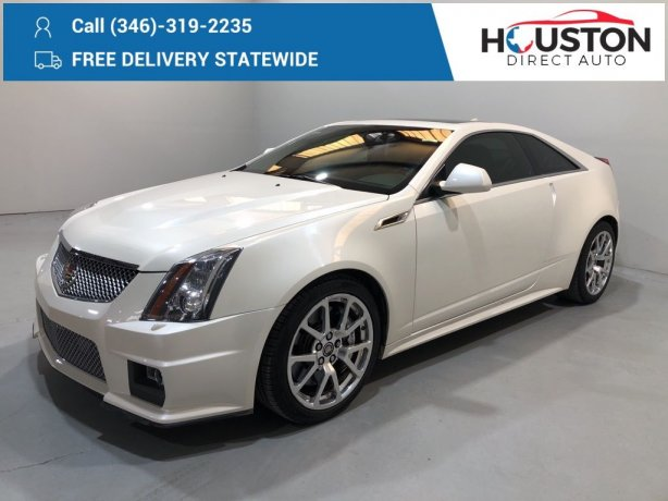 Used 2012 Cadillac CTS-V for sale in Houston TX.  We Finance!