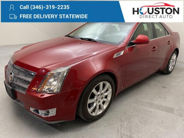 Used 2009 Cadillac CTS for sale in Houston TX.  We Finance!
